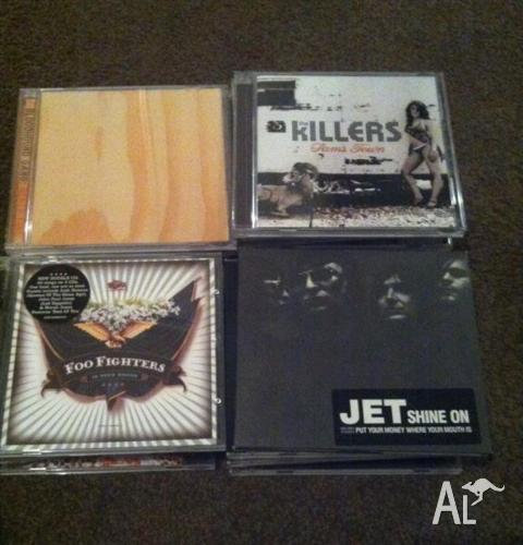 Collection of rock and alternative rock CD's