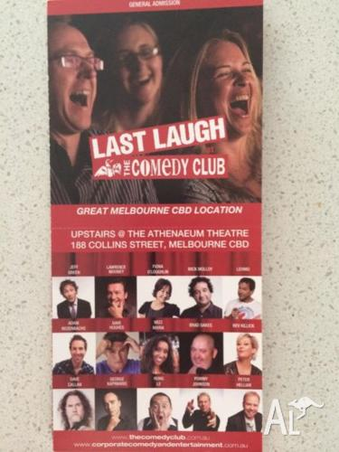 COMEDY CLUB- 18 TICKETS $450 VALUE - SELLING EXTREMELY