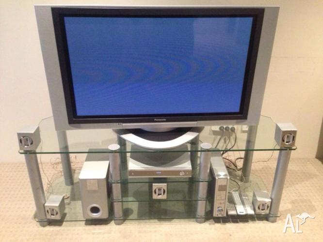 complete entertainment unit 40inch tv stereo dvd glass stand for sale in perth western. Black Bedroom Furniture Sets. Home Design Ideas