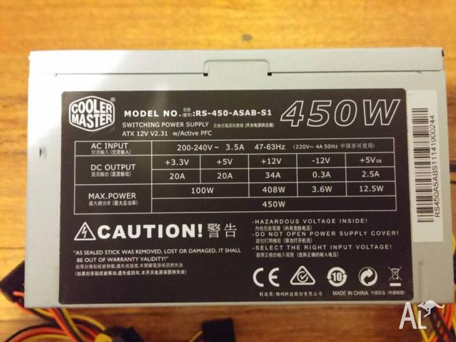 Coolermaster 450W Power Supply