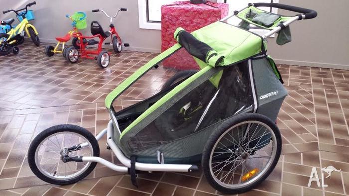 croozer kid 2 bike trailer only 1 yr old for sale in. Black Bedroom Furniture Sets. Home Design Ideas