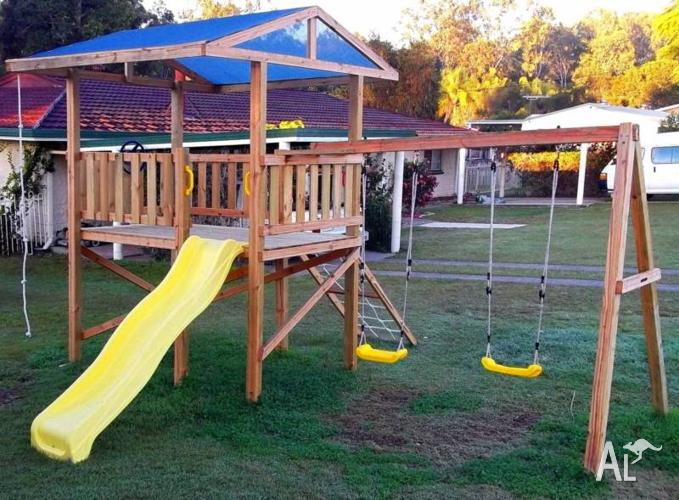 Cubby House, Slide, Fort, Play Ground Equipment, Kids