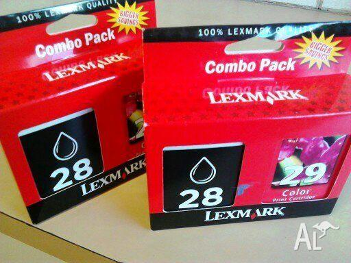 Currently available: two genuine Lexmark Combo Packs
