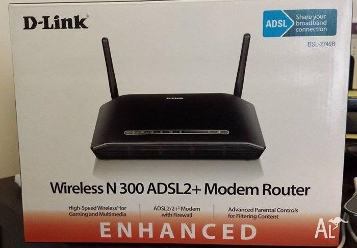 D-Link DSL-2740B Wireless N ADSL2+ Modem Router