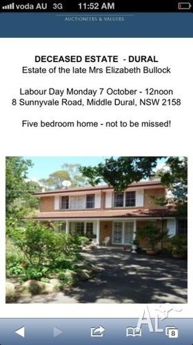 DECEASED ESTATE HOME CONTENTS AUCTION - DURAL