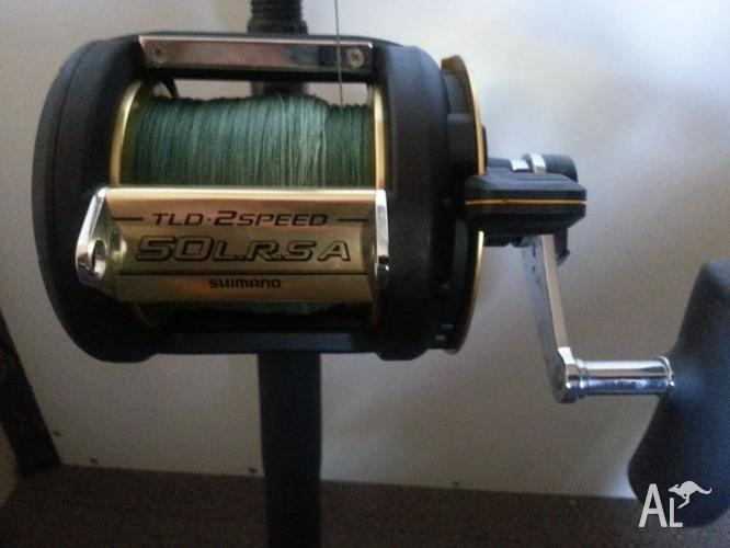 Deep sea jigging rod and shimano reel for sale in coodanup for Deep sea fishing rod and reel