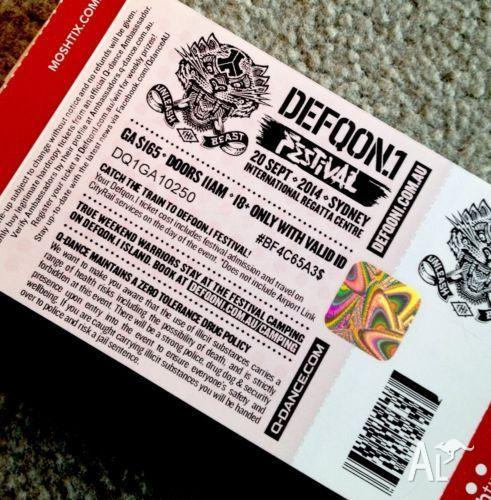 DEFQON 1 tickets for Sale in CROWS NEST, New South Wales