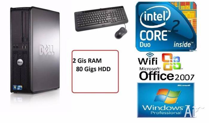 Dell Optiplex 755 Core2Duo 3.2 Ghz 2 G RAM 80 HDD WiFi