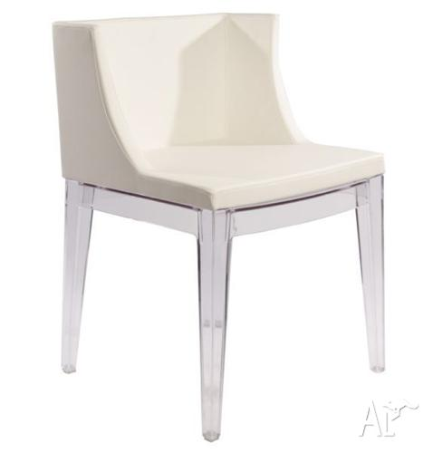 designer replica philippe starck mademoiselle chair white leather
