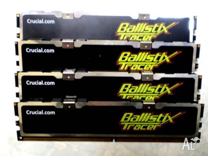 Desktop Memory: DDR2 800 RAM 4x1GB sticks Ballistix