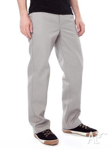 Dickies 874 Mens Pants Trousers Silver 30 x 32 Work