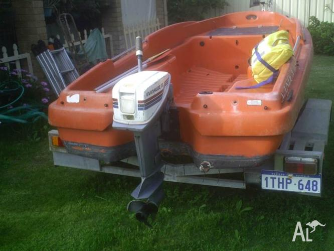 Dinghy. Poly-Boat 3.6m, +15hp, +Trailer. All