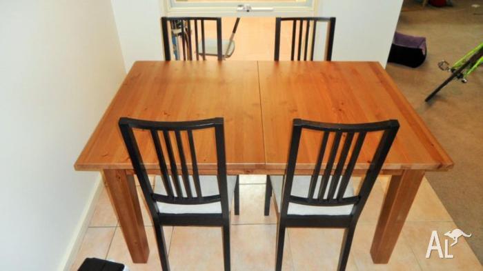 Dinning Room Set, STORNÄS Extendable Table + 4 BÖRJE