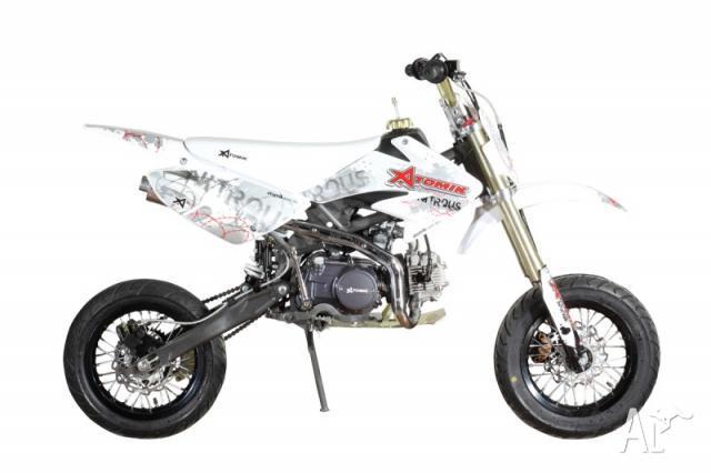 dirt bike nitrous motard 125cc white by atomik for sale in