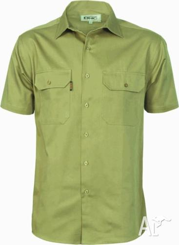 DNC Workwear Cotton Drill Work Shirt Short and Long