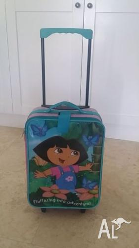DORA THE EXPLORER WHEELIE SUITCASE - USED