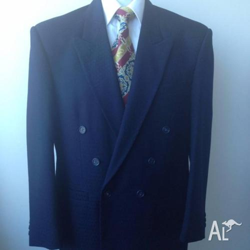 Double Breasted Wide Lapel Suit, Extra Wide Leg Pleated