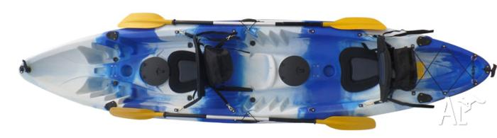 Double Fishing Kayak plus paddles plus seats