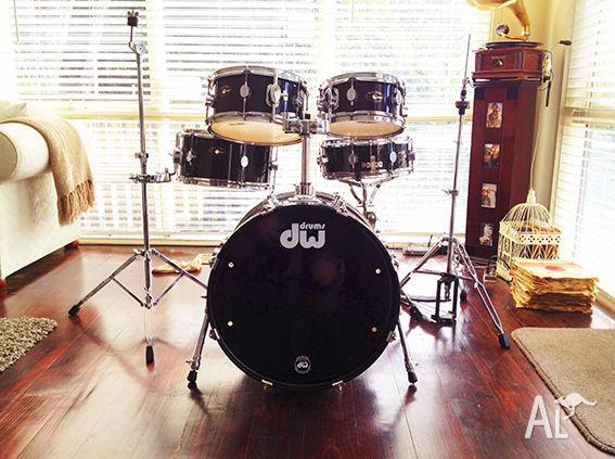 dw drums pacific pdp chameleon practice drum kit for sale in the basin victoria classified. Black Bedroom Furniture Sets. Home Design Ideas