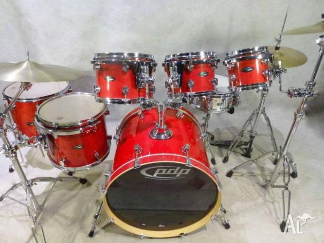dw pdp lx series all maple 6pce drum kit with cymbals for sale in doncaster east victoria. Black Bedroom Furniture Sets. Home Design Ideas