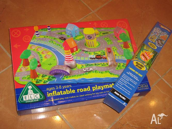 Elc Inflatable Road Playmat And Hots Wheels Aussie Playmat