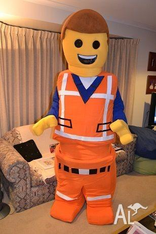Emmet from Lego movie mascot costume hire $100 & Emmet from Lego movie mascot costume hire $100 in MORNINGTON ...