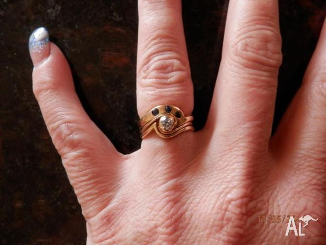how to wear engagement and eternity ring
