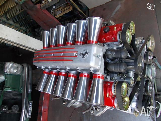 Engine Ferrari for exposure