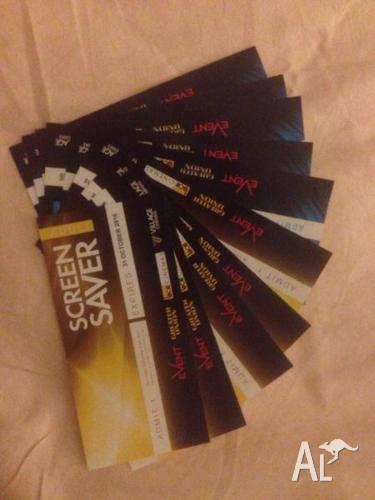 Events & Hoyts tickets $13 each