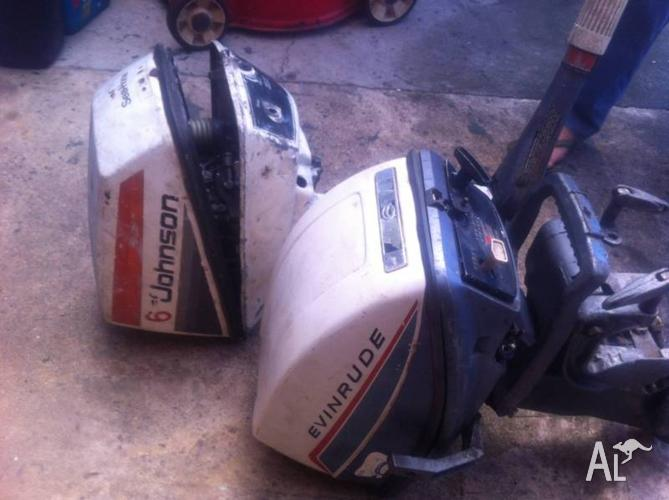 evinrude⁄johnson 2 x 6 hp outboard motor selling parts