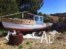 Ex Couta fishing boat-classic huon pine