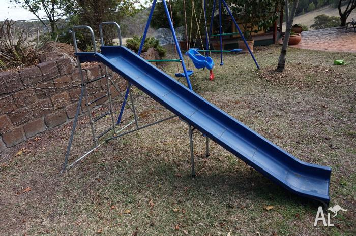 EXTRA LONG SLIDE AND SWING SET