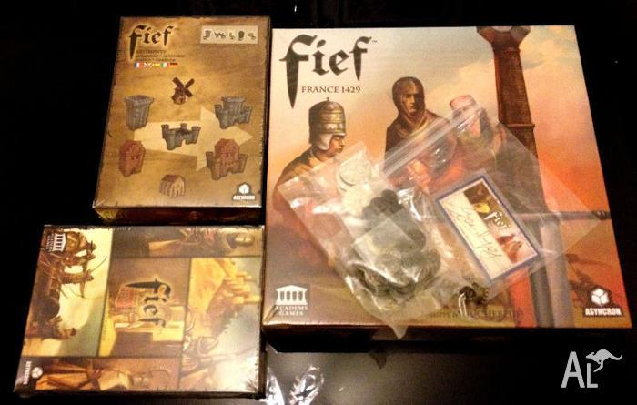 Fief France 1429 Board Game with Kickstarter SG&