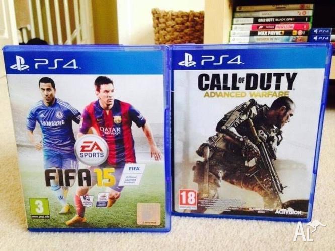 Fifa 15 AND Call of Duty (COD) Advanced Warfare PS4