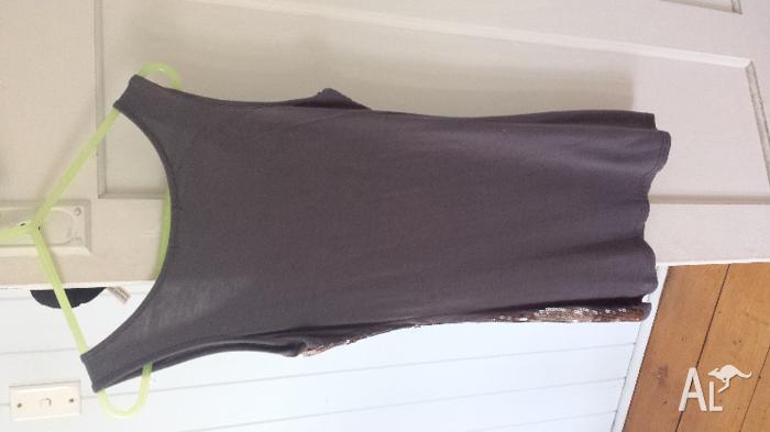 FILO grey sequins S dress