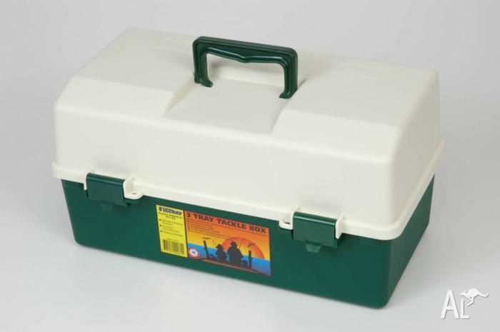 Fischer Plastics 3 Tray Tool Fishing Hobby Craft Box
