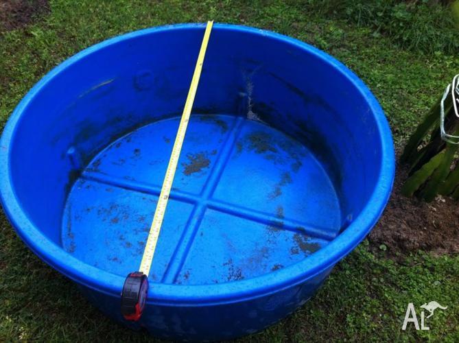 fish pond blue round