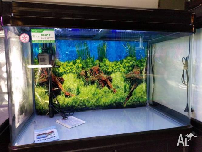 Fish Tank / Aquarium NEON 146 with LED Light & Top