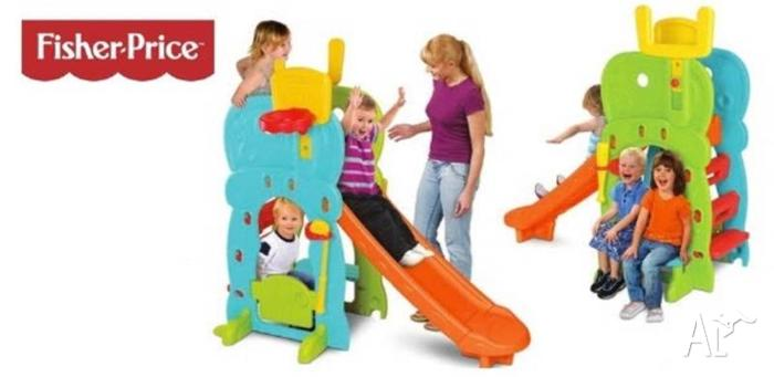 FISHER-PRICE 5 in 1 ACTIVITY CLUBHOUSE with SLIDE -