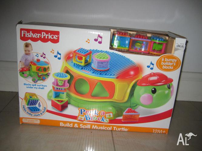 Fisher-Price Build & Spill Musical Turtle
