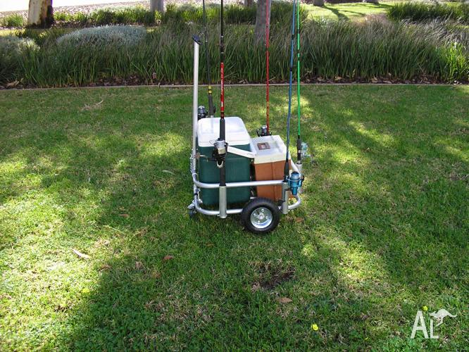 Fishing cart caddy and trolley for sale in paralowie for The fishing caddy