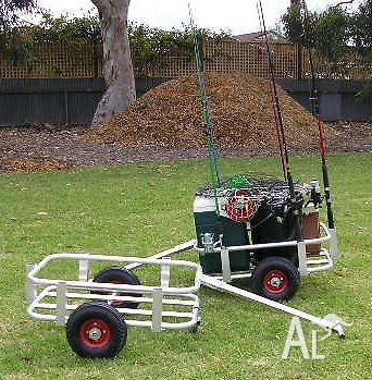 Fishing cart trolley or caddy for sale in paralowie for Wade fishing caddy