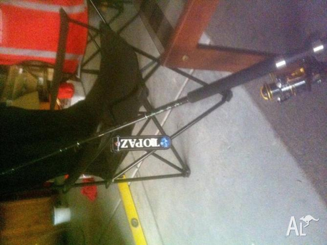Fishing rod-Topaz rod-Kamashark reel