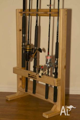 Fishing Rod Rack Stand for up to 10 rods