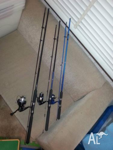 Fishing rods and 500 piece tackle box