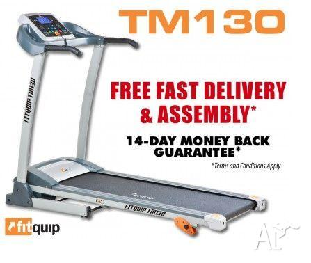 FITQUIP TM130 TREADMILL - $11 P/WK-FREE DELIVERY AND