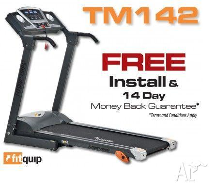 FITQUIP TM142 TREADMILL - $13 P/WK-FREE DELIVERY AND