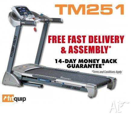 FITQUIP TM251 TREADMILL - $25 P/WEEK-FREE DELIVERY AND