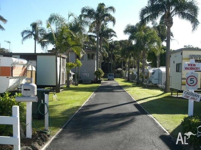 For sale caravan onsite at Toowoon Bay NSW Central