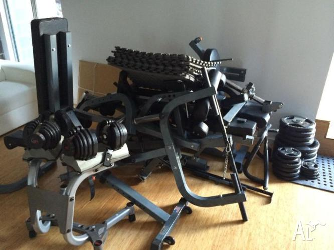 Force USA multi station, multi gym, dumbbells and